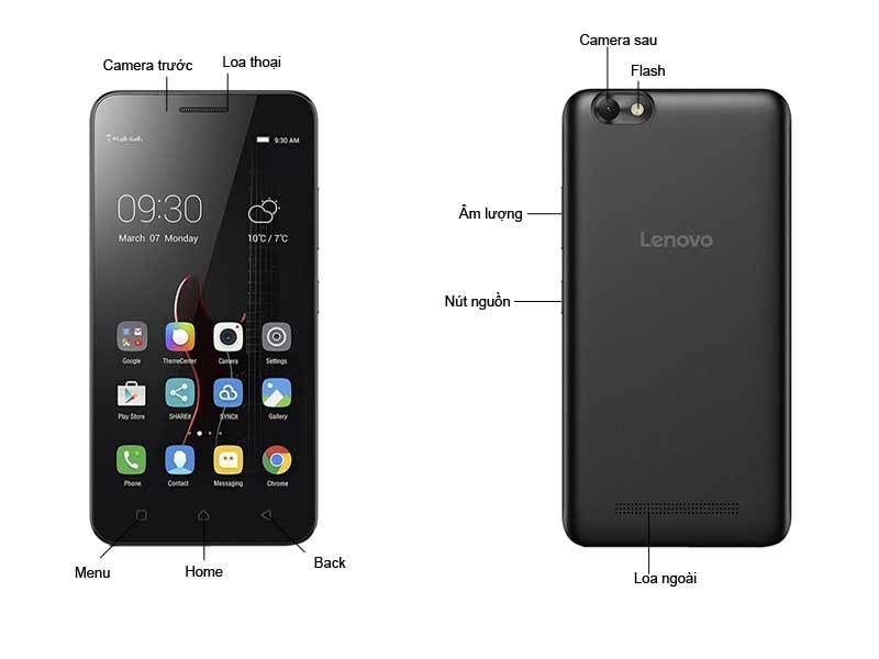 Điện Thoại Di Động Lenovo Vibe C LNA2020B-Màu Đen