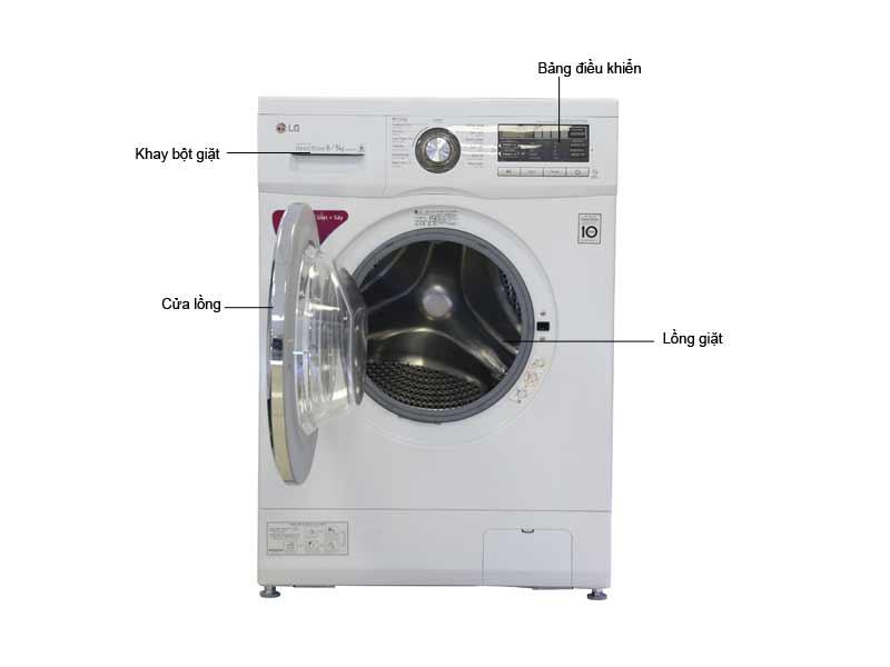 Máy Giặt Sấy LG F1408DM2W1 Giặt 8kg - Sấy 5kg - DD Inverter