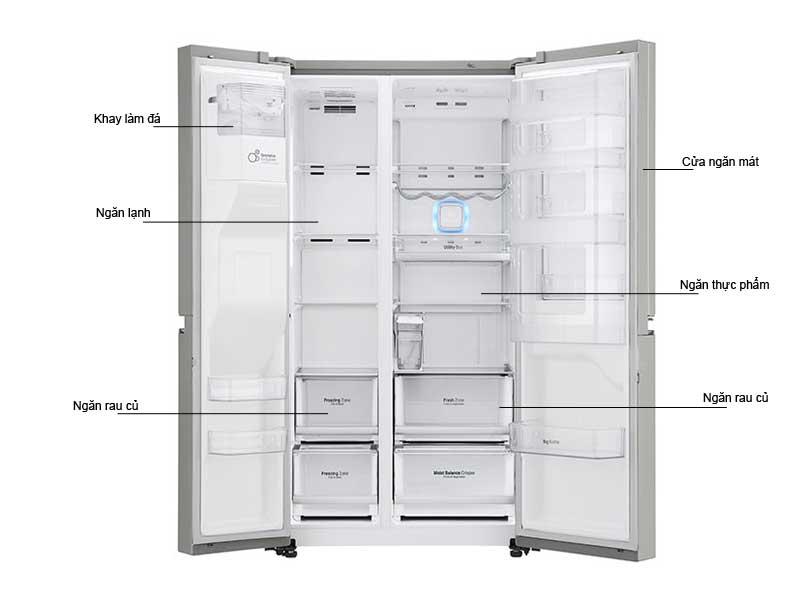 Tủ lạnh Side By Side LG GRP247JS 601 Lít
