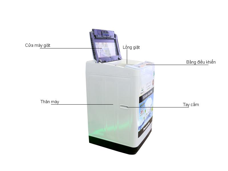 Máy Giặt Panasonic NAF80VG9HRV 8kg