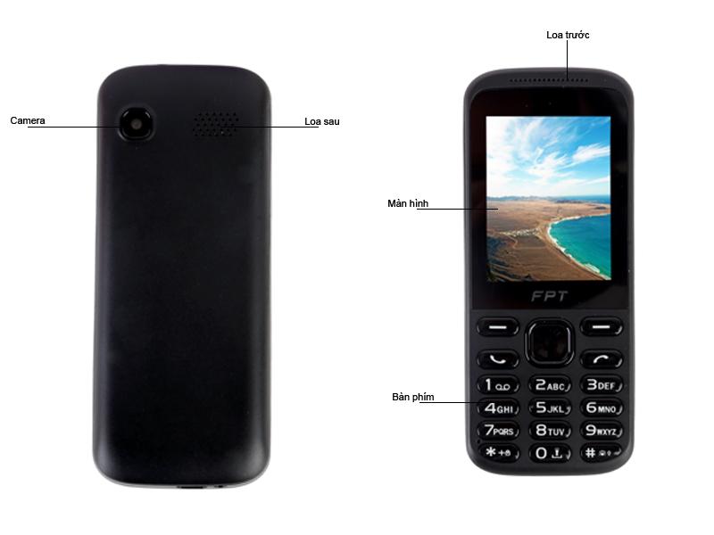 Điện thoại di động FPT C3 - Màu Đen