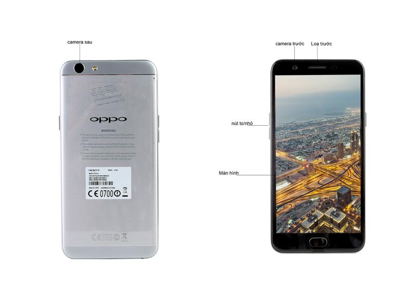 Điện thoại Oppo F1s - Màu Xám