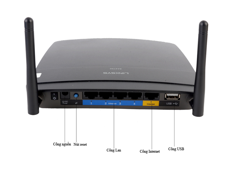 Bộ phát sóng wifi Linksys Dual-band 600Mbps Router with Gigabit EA2750