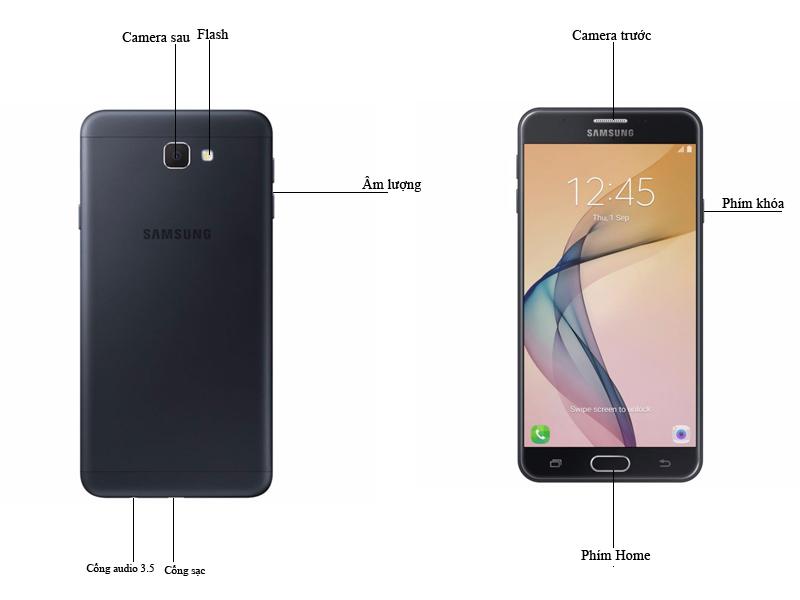 Điện thoại di động Samsung Galaxy J5 Prime - Màu Đen
