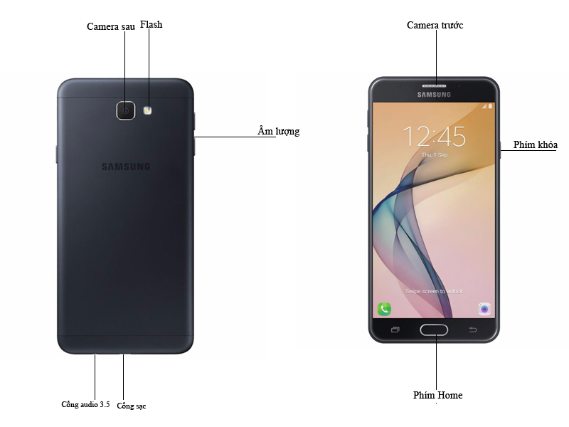 Điện thoại di động Samsung Galaxy J5 Prime - Màu Trắng Vàng