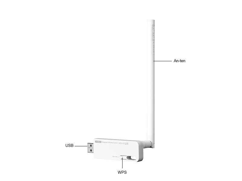 USB Wifi Totolink N150UH Chuẩn N 150Mbps