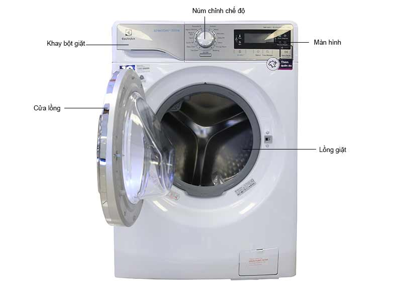 Máy Giặt Lồng Ngang Electrolux EWF14023 10kg Inverter
