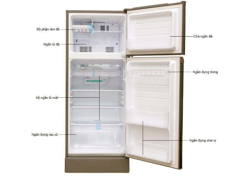 Tủ lạnh Sharp SJ198PCSA 180 Lít