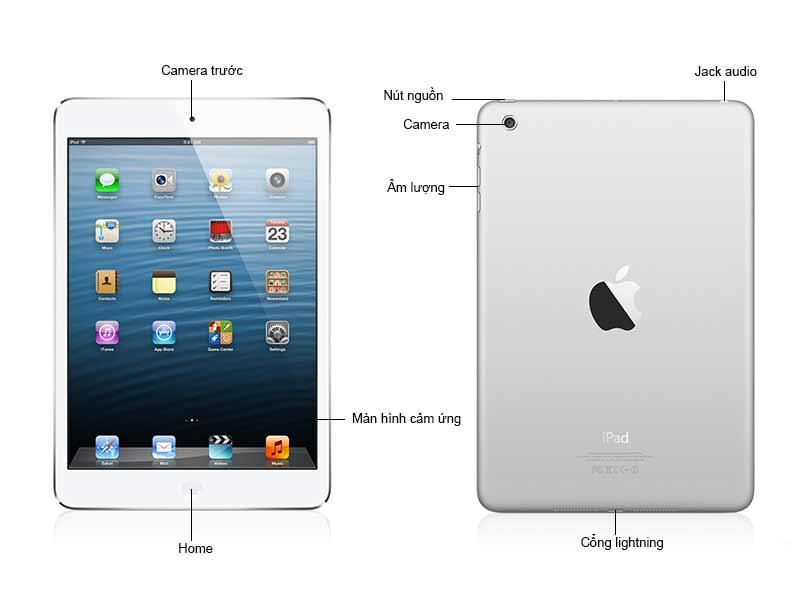 iPad Mini2 Wifi 32GB ME280ZPA Màu Trắng Bạc