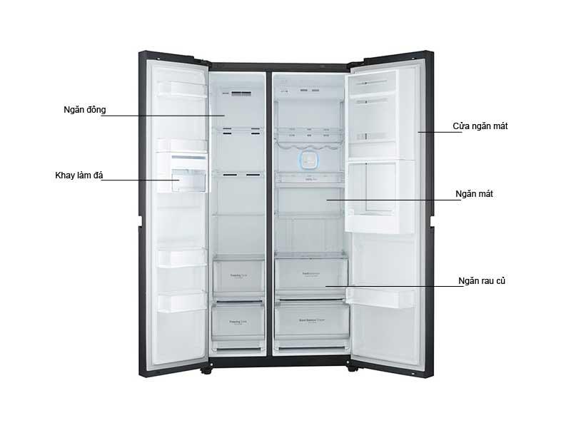 Tủ Lạnh Side By Side LG GRR247LGB 675 Lít Inverter