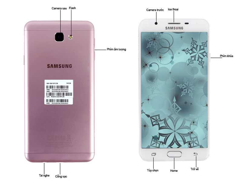 Điện thoại Samsung G610 Galaxy J7 Prime - Màu Hồng