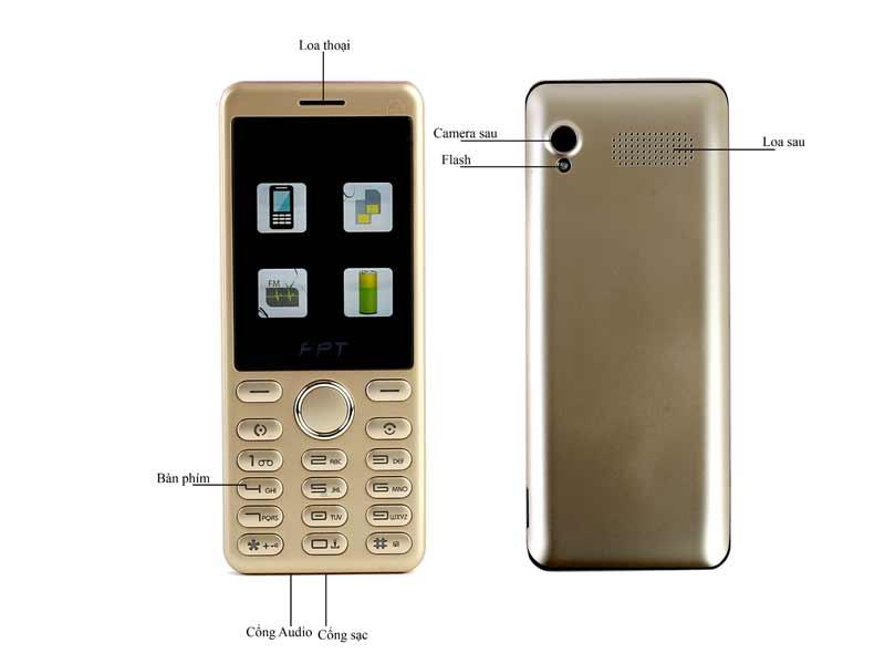 Điện thoại di động FPT BUK 24 Gold