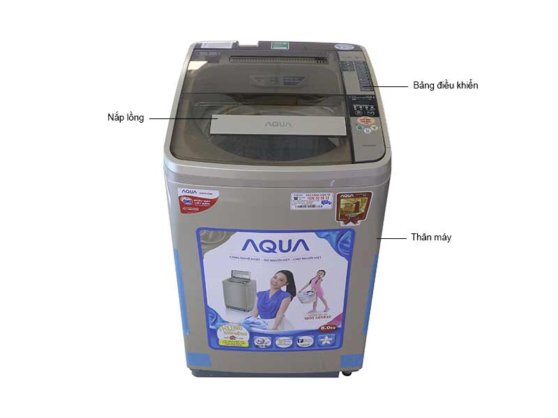 Máy Giặt Aqua 8kg AQWU800ATN - Màu Đồng