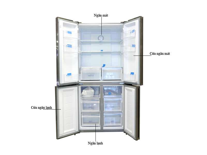 Tủ Lạnh Aqua AQRIG525AMGB 456 Lít