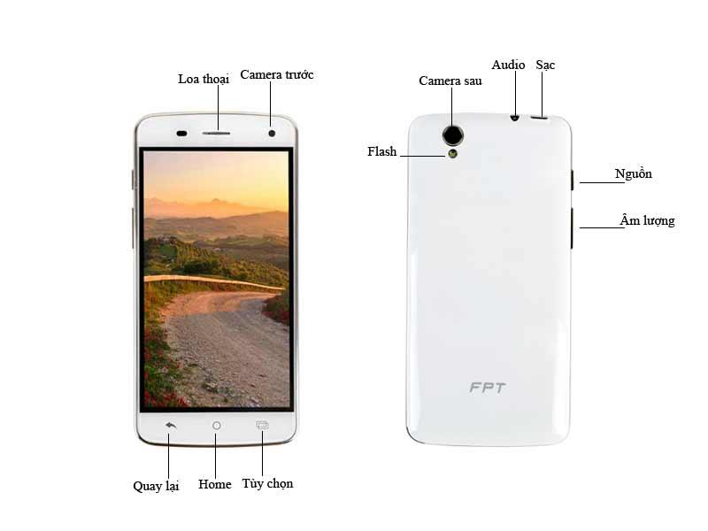 Điện thoại di động FPT X6 - Màu Trắng