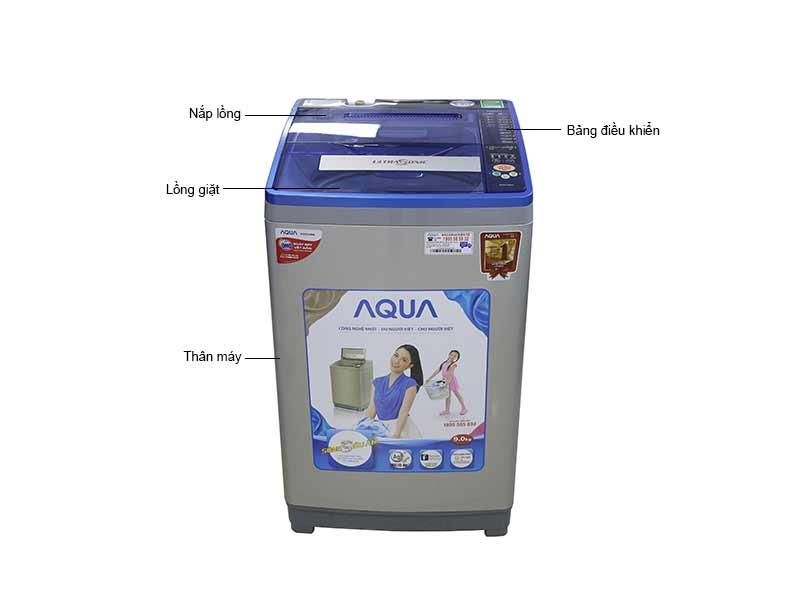 Máy Giặt Aqua AQWU90ATS -  9 Kg Màu Bạc