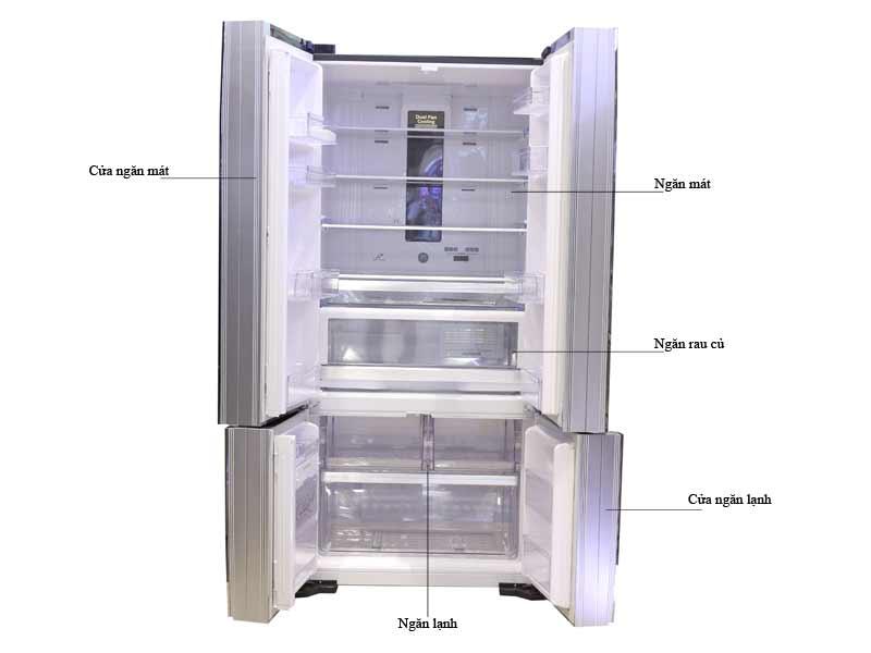 Tủ Lạnh Hitachi Inverter 640 Lít WB800PGV5GBK