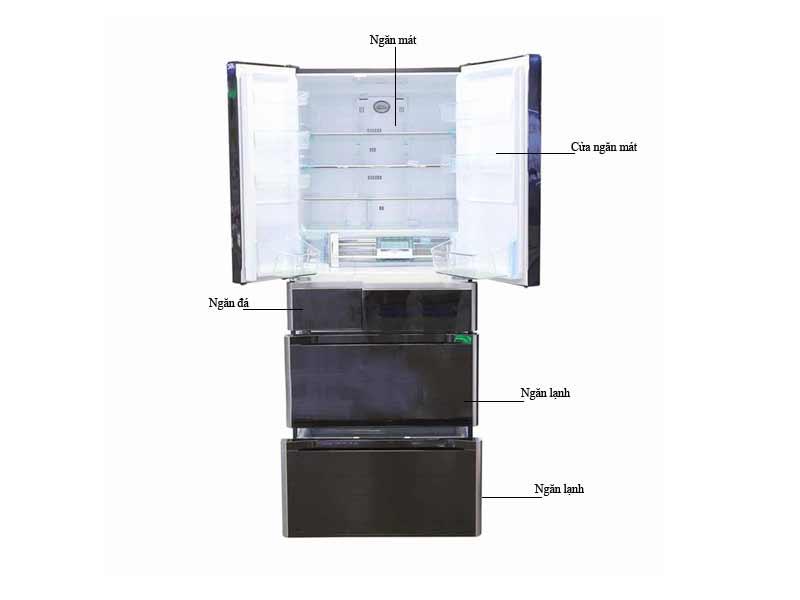 Tủ Lạnh Hitachi E6200VXW Dung Tích 657 Lít Màu Trắng