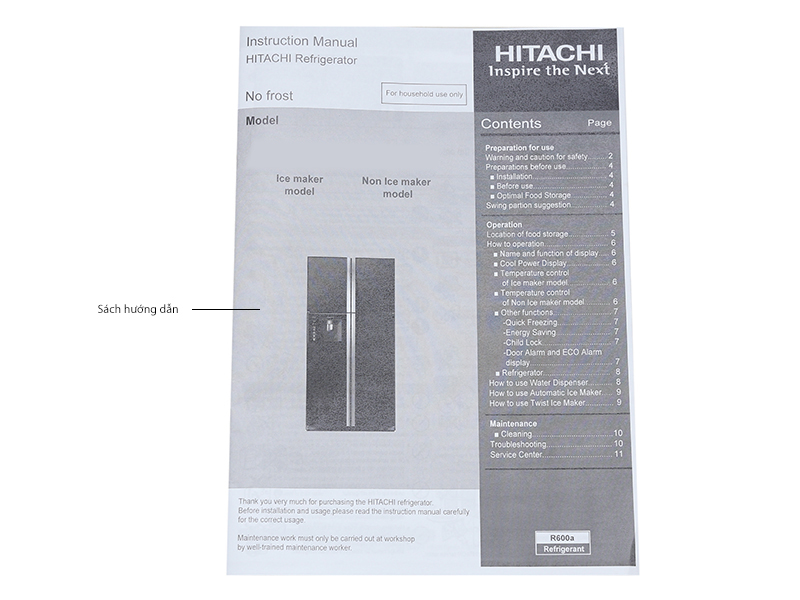 Tủ Lạnh Hitachi 375 Lít Inverter RSG38FPGVGBK