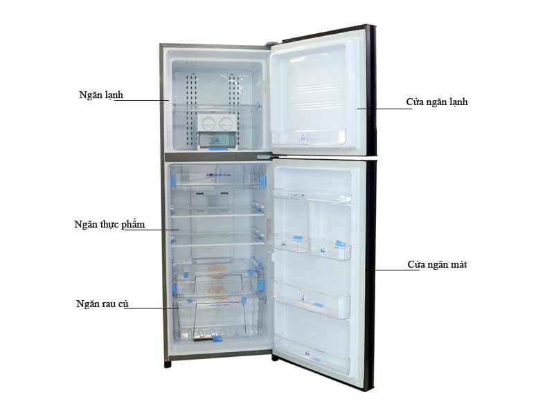 Tủ lạnh Inverter Aqua AQRIU346BN 345 Lít