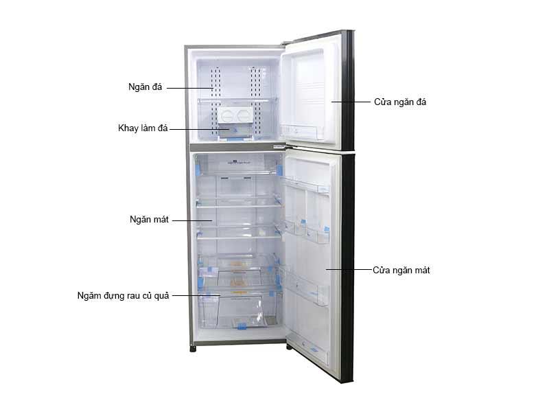Tủ Lạnh Aqua AQRI376BN 373 Lít Inverter