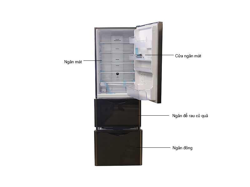 Tủ Lạnh Hitachi 375 Lít Inverter RSG38FPGVGBW - Màu Nâu