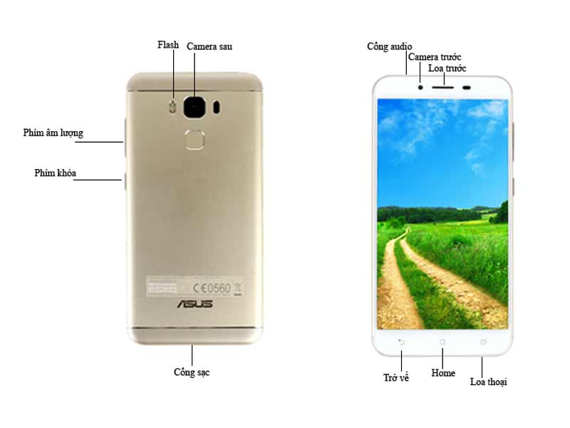 Điện Thoại Di Động Asus ZenFone 3 Max 5.5 Inch- Màu Gold