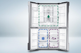 3 dàn lạnh độc lập Triple Cooling