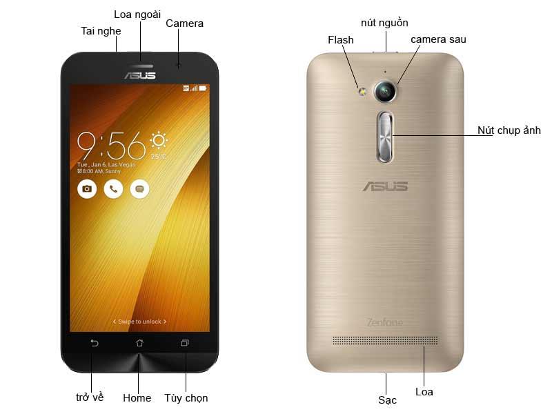 Điện Thoại Di Động Asus ZenFone Go ZB500KG1G074WW - Màu Gold