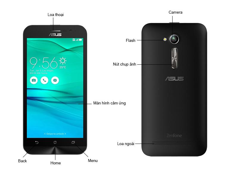 Điện Thoại Di Động Asus ZenFone Go ZB500KG1A001WW - Màu Đen