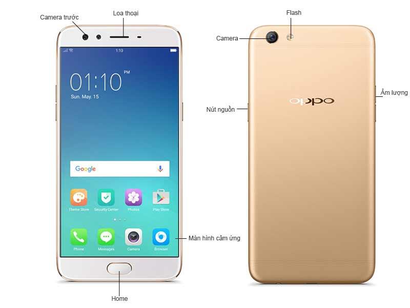 Oppo F3 Plus OPPOH1613G - Màu Vàng