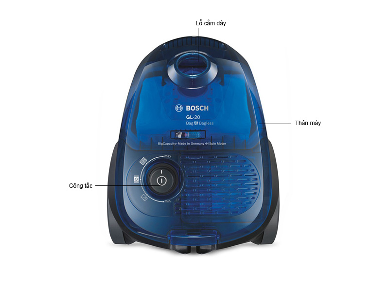 Máy Hút Bụi Bosch 3.5 Lít BGN22128GB