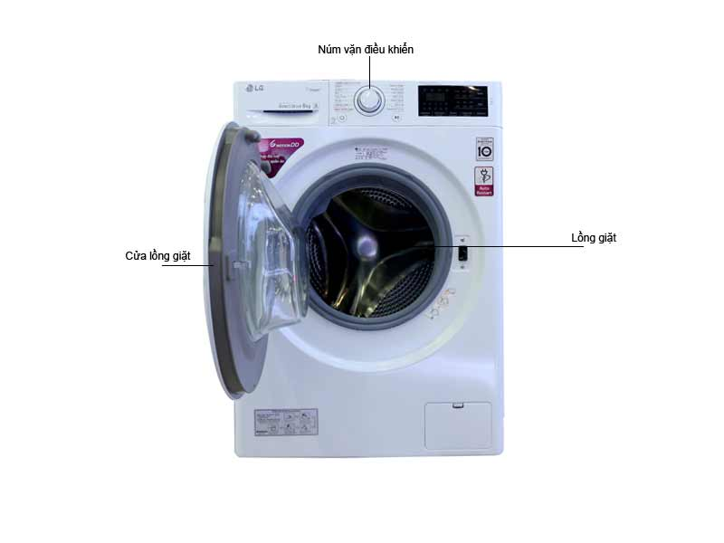 Máy giặt  lồng ngang LG FC1408S4W.ABWPEVN- 8.0 kg