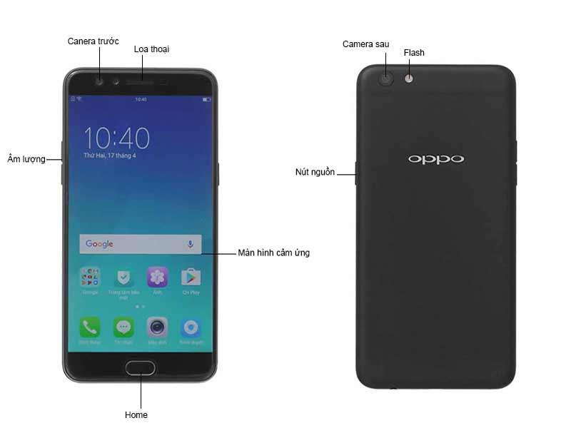 Oppo F3 Plus OPPOH1613B - Màu Đen