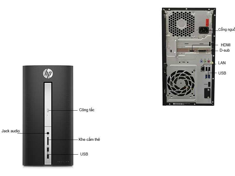 Máy Tính Để Bàn HP Pavillion HP570P017L