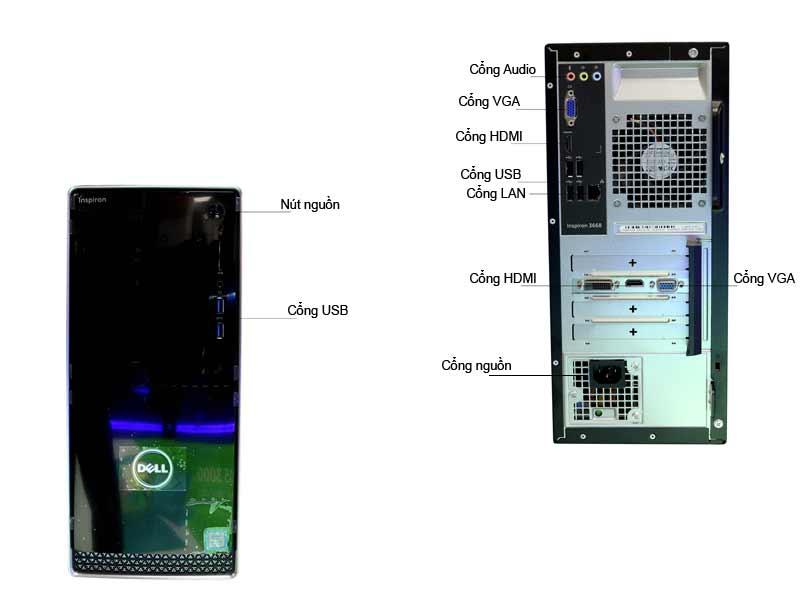 Máy tính để bàn Dell Inspiron 3668-MT70121544