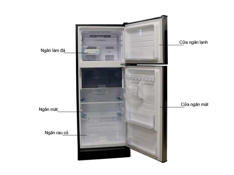 Tủ Lạnh Sharp SJ-X201E-SL 196 Lít Inverter