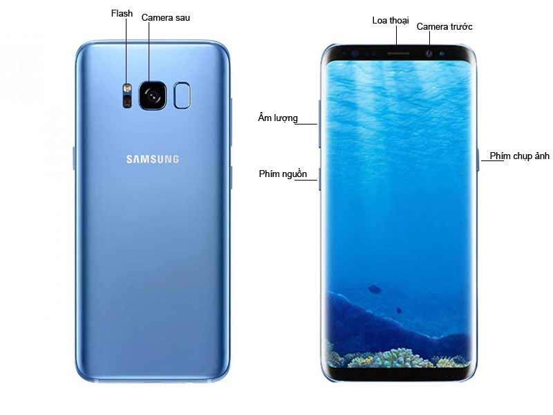 Điện thoại di động Samsung Galaxy S8 - Blue Coral