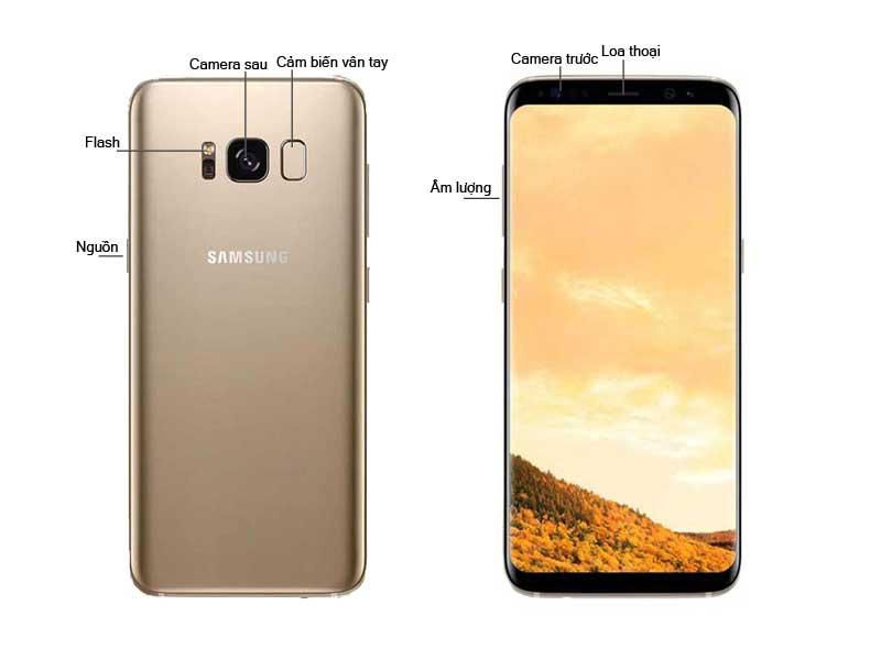 Điện Thoại Samsung Galaxy S8 - Màu Vàng