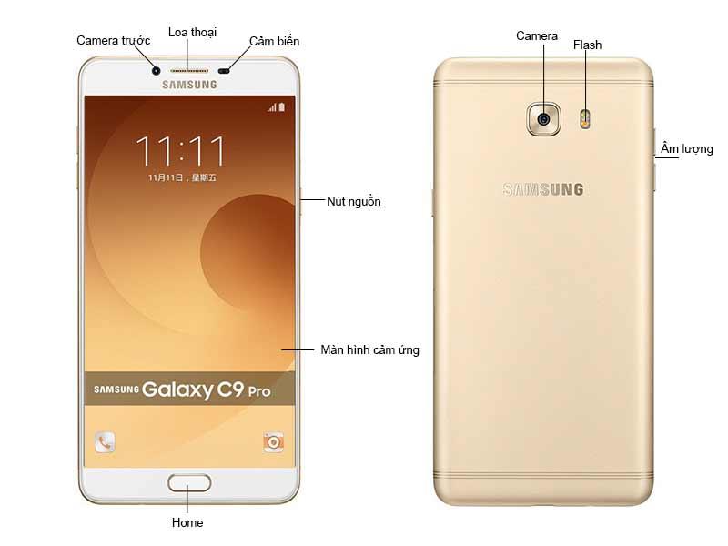 Điện Thoại Samsung Galaxy C9 Pro SSC900G - Vàng