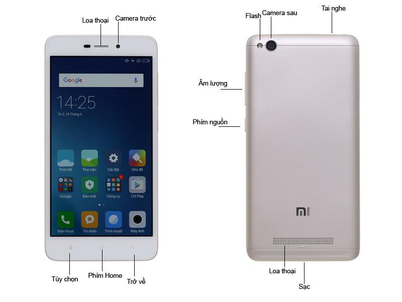 Điện thoại di động Xiaomi Redmi 4A - Màu Vàng