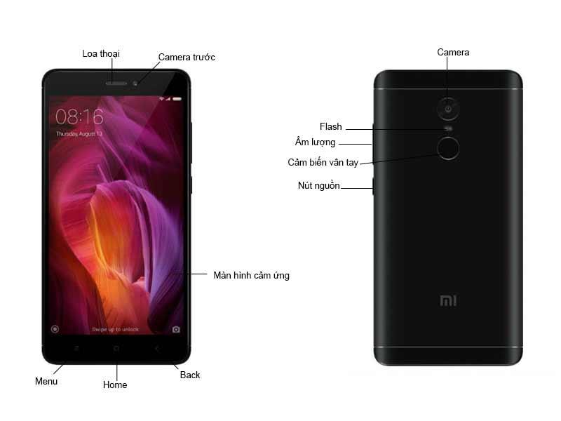 Điện Thoại Xiaomi Redmi Note 4 32GB - Màu Đen REDMINOTE4B