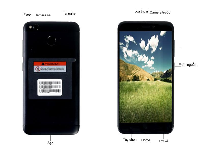 Điện thoại di động Xiaomi Redmi 4X - Màu Đen