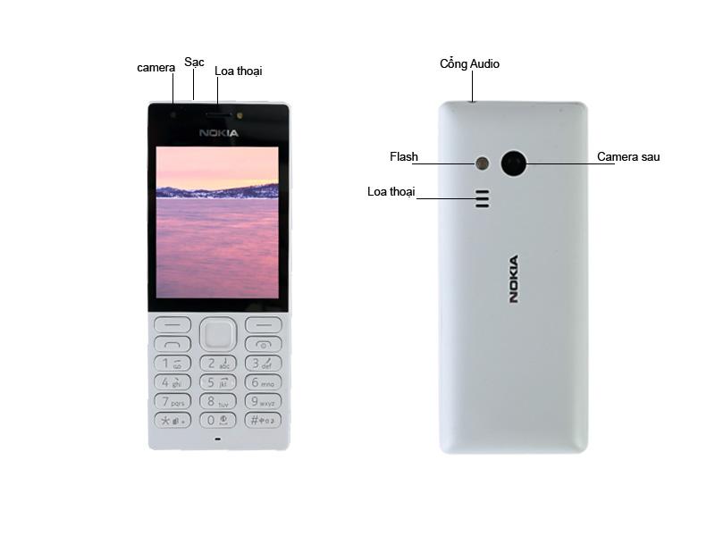 Điện Thoại Di Động Nokia 216 - Màu Xám