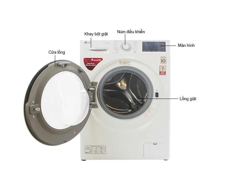 Máy giặt  lồng ngang LG FC1408S4W1 - 8 Kg