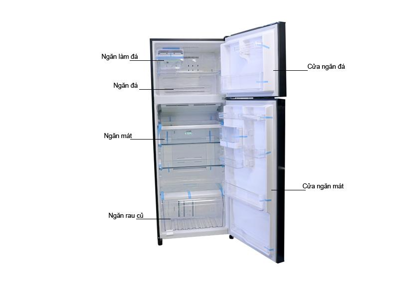 Tủ Lạnh Toshiba GR-TG46VPDZXG 409 Lít Gương Xanh