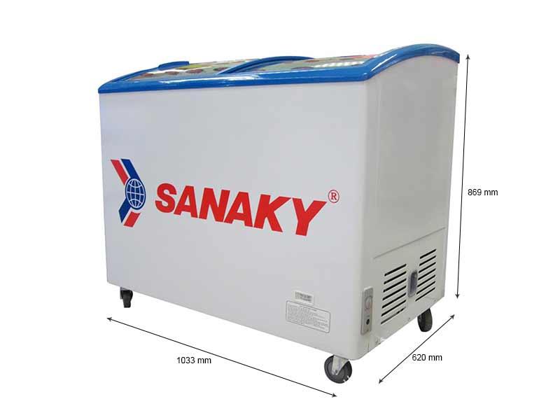 Tủ Đông Sanaky Mặt Kính Cong VH3099K