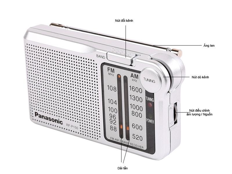 Đài Radio FM/AM Panasonic RF-P150DBAGA