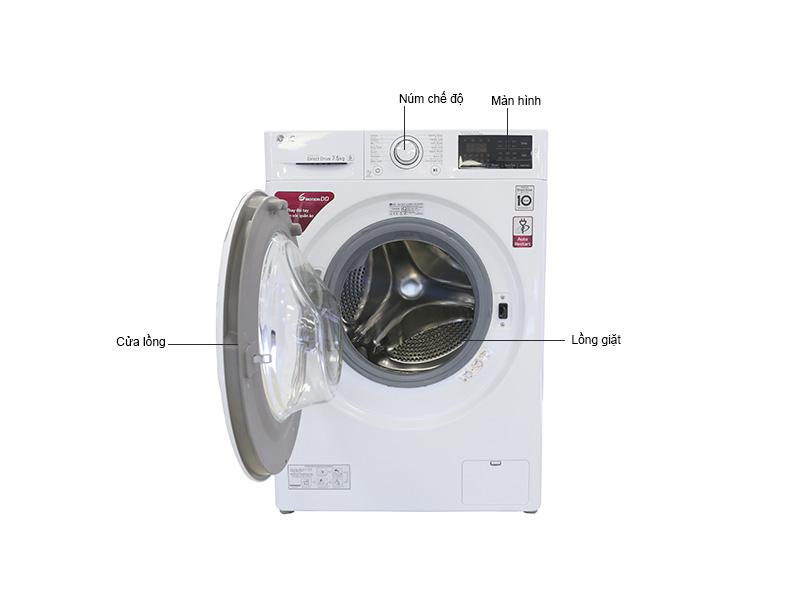 Máy Giặt Lồng Ngang LG 7.5 Kg FC1475N5W2