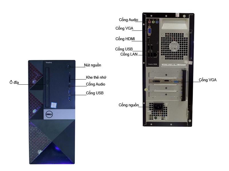 Máy tính để bàn Dell VOS3668MT (PWVK44)